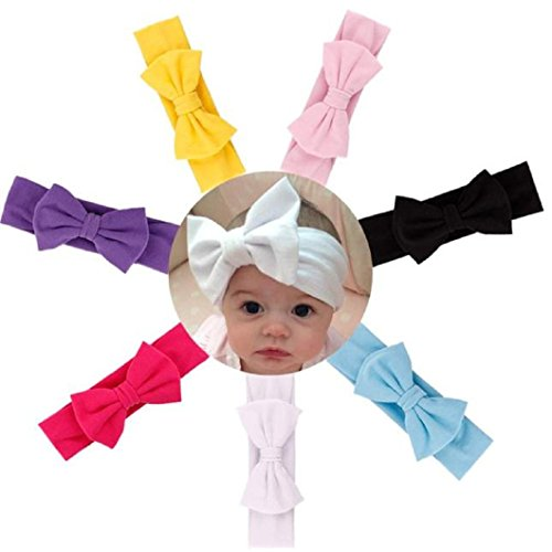 DZT1968® Baby Girl Newest Turban Headband Head Wrap Knotted Hair Band With Bowknot