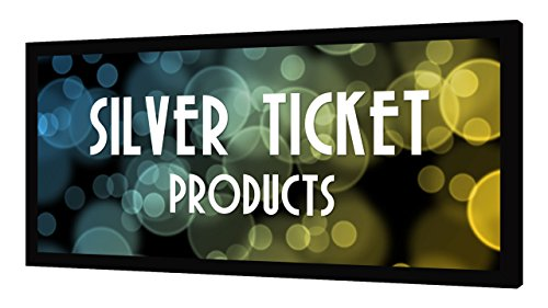 STR-235115-WAB Silver Ticket 2.35:1 4K Ultra HD Ready Cinema Format (6 Piece Fixed Frame) Projector Screen (2.35:1, 115, Woven Acoustic Material)