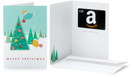 Amazon.co.uk Gift Card - In a Greeting Card - £25 (Christmas Tree)