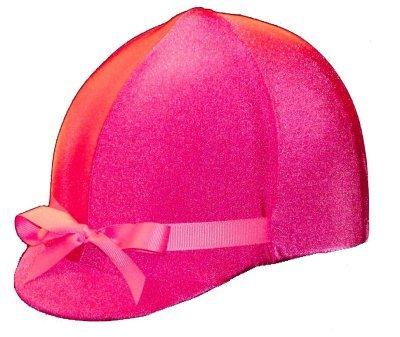 Equestrian Riding Helmet Cover - Hot Pink