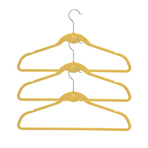 BriaUSA Cascade Hangers Set of 10 Yellow Steel Swivel Hooks -Slim, Sturdy Saves You Extra Space