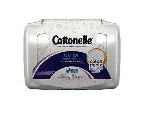 Cottonelle Ultra Comfort Care Flushable Cleansing Cloths Tub, 42-Count