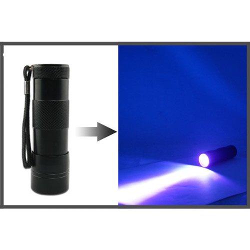 Innogear 12 LED UV Flashlight Bug Insect Detector Finder Ultra Violet Blacklight for LOCA Glue Cure Mobile Phone