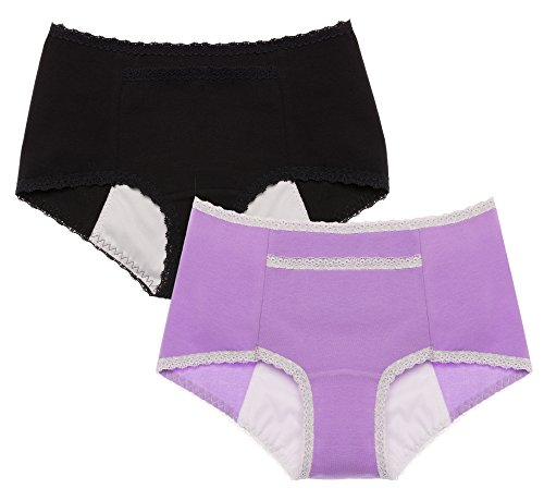 Intimate Portal Women's Secret Agent Leak Proof Sanitary Brief (2 Pack)