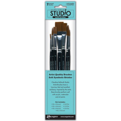 Ranger CHS24729 Claudine Hellmuth Studio Artist Brushes, 7-Pack