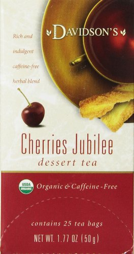 Davidson's Tea Dessert Tea/Cherries Jubilee, 25 Count Tea Bags