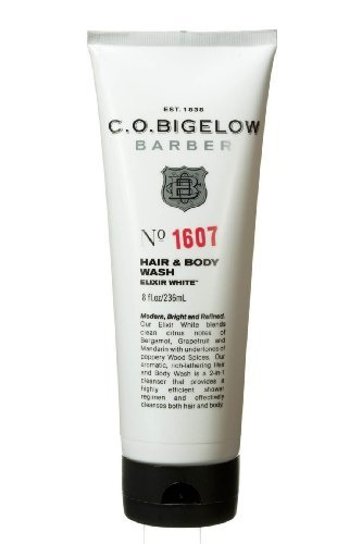 C.O. Bigelow Barber Barber Hair and Body Wash Elixer White #1607 (8oz)