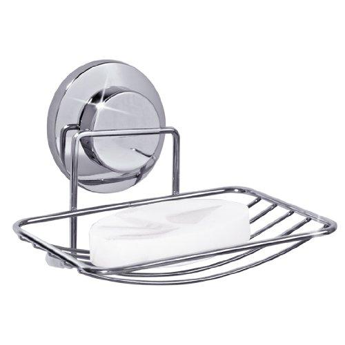 Tatkraft Wild Power Soap Dish Holder Chrome Plated Steel / Plastic Vacuum Suction Cup 65mm