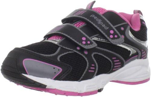 pediped Flex Venus Sneaker (Toddler/Little Kid),Black Azalea,25 EU (8.5 E US Toddler)