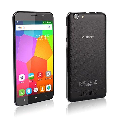 Cubot Dinosaur 3GB Ram Sim Free Smartphone 4G Dual Sim 5.5 Inch Android 6.0 16GB Rom Mobile Phone Quad Core Phablet LTE /4G Dual Camera Smart Phone 13 MP Pixels Unlocked Cell Phone(Black)
