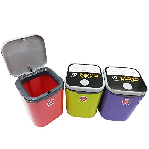 HOMMP Recycled Tiny Desktop Trash Can, Car Waste Can, 0.5 Gallon