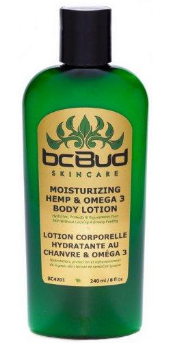 Hemp Body Lotion, BC Bud Moisturizing Hemp & Omega 3 Lotion, 98% Natural for Dry Skin, Itchy Skin, Paraben Free