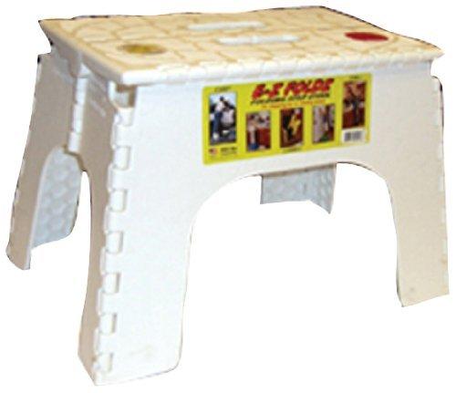 B&R Plastics 104-6WH White 12 EZ Foldz Step Stool