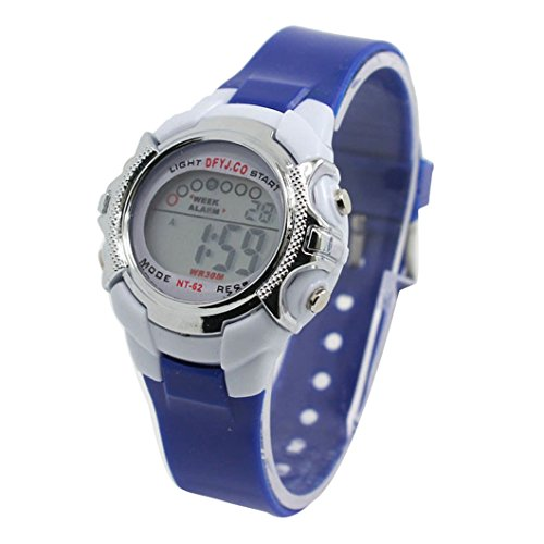 DZT1968(TM) LED Light Wrist Watch Boy Girl Alarm Date Digital Multifunction