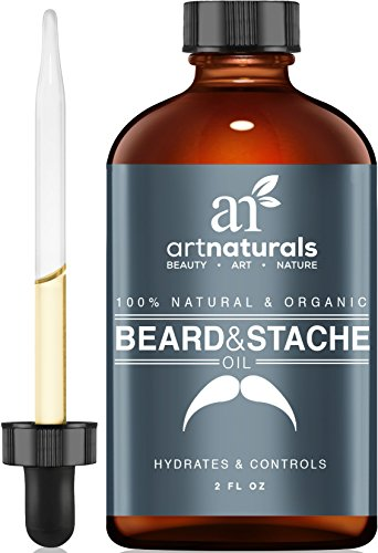 Art Naturals Organic Beard Oil & Leave-In Conditioner 2 oz-100% Pure & Natural, Unscented