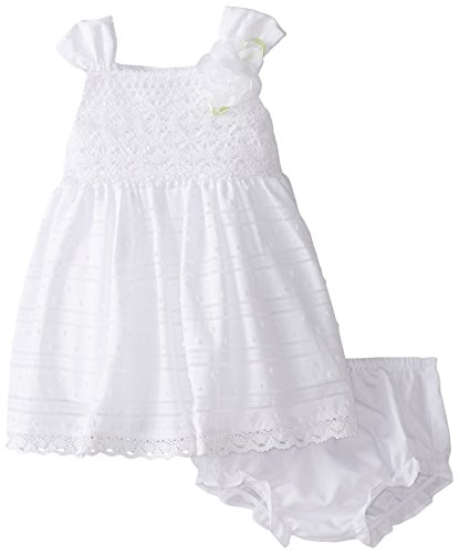 Sweet Heart Rose Baby Girls' Crochet Bodice Clip Dot Dress 2 piece