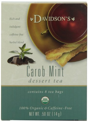 Davidson's Tea Carob Mint, 8-Count Tea Bags (Pack Of 12)