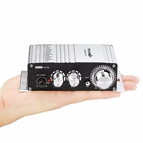 Mini Car Amplifier,BlitzWolf 20W 2-Channel 12V Hi-Fi Audio Stereo Multi Function Booster for Car, Motocycle, MP3, Digital Music Player