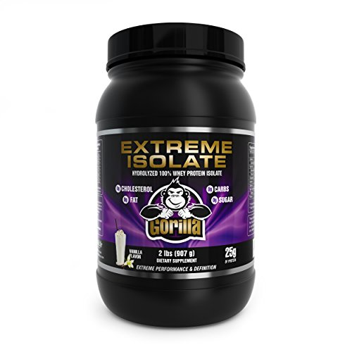 EXTREME Isolate 100% Hydrolyzed Whey Protein Powder by Vital Life USA - Vanilla - 30g/serving - 2 lb. - Best Bodybuilding Supplement for Muscle Build/Growth, Weight Lifting & Workouts