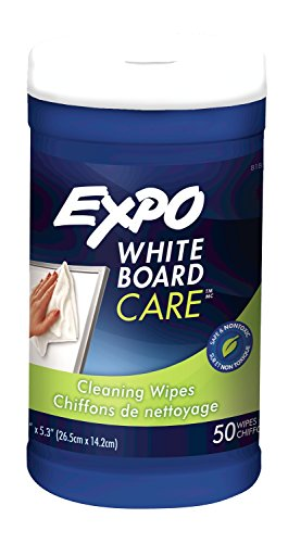 Expo White Board Care, Cleaning Wipes, 8x5.5, 50 Count