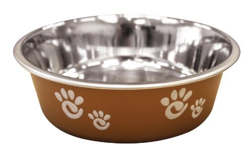 Ethical Pet Barcelona Pet Dish, 32-Ounce, Pearlized Copper