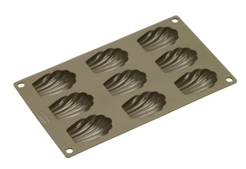 Lurch FlexiForm 85025 Madeleine Baking Tray with 9 Moulds Brown