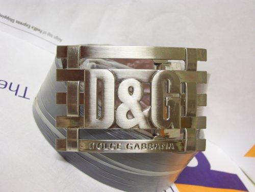 DOLCE & GABBANA D&G MEN's BELT BUCKLE WITH LEATHER BELT/STRAP By D&G