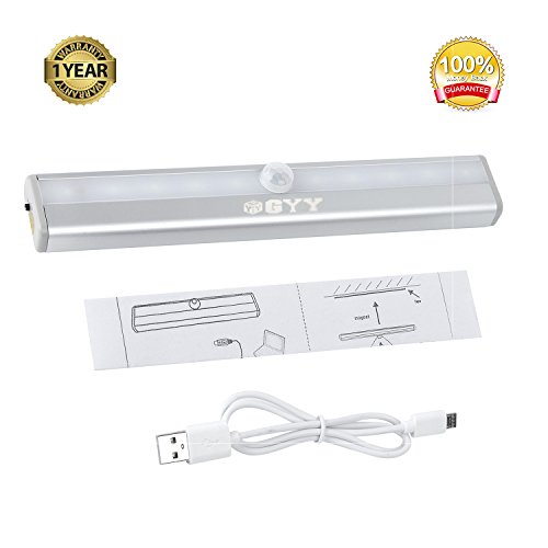Portable Wireless Motion Activated Detector Sensing LED Light Bar Automatic Stick-on Anyplace with Magnetic Strip (1 PC, Rechargeable)