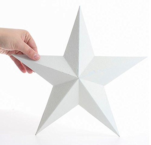 Factory Direct Craft® Dimensional White Metal Barn Star with Glistening White Glitter Coating
