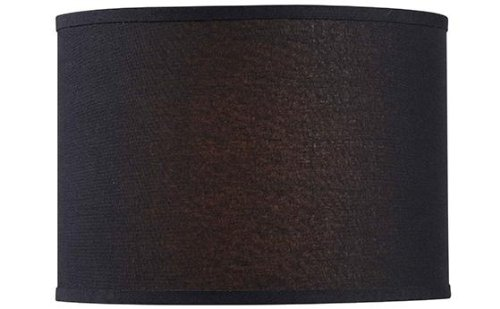 Drum Lamp Shade, 14 LINEN, BLACK