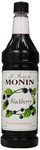 Monin Flavored Syrup, Blackberry, 33.8-Ounce Plastic Bottles (Pack of 4)