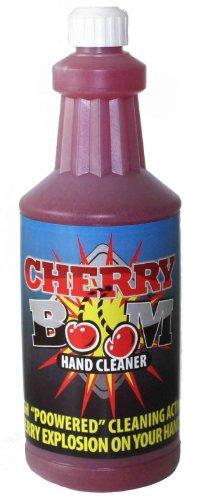 Cherry Boom Industrial Hand Cleaner Pumice Fortified Grease, Tar, Paint, Asphalt Vanisher 32 Oz Bottle (1 Bottle)