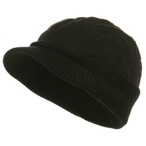 Winter Quilted Cap-Black