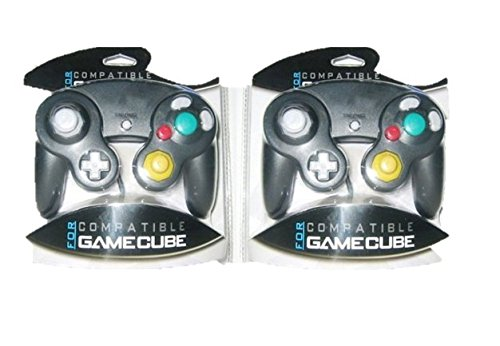 Two GameCube / Wii Compatible Controllers [Black]