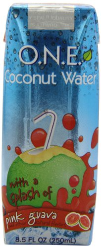 O.N.E. Coconut Water with a Splash of Pink Guava, 8.5-Ounce Aseptic Containers (Pack of 12)