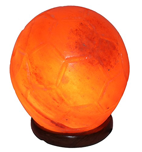 Indus Classic Himalayan Natural Rock Olympic Foot Ball Cossor Salt Lamp with Free Cord Bulb