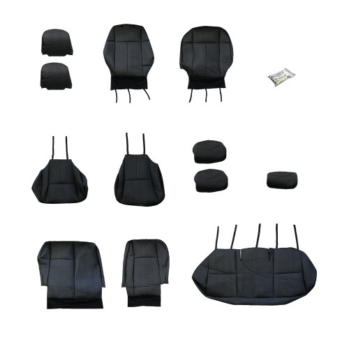 FH Group CM302 2009-2011 Toyota Corolla Leather Black Custom Fit Seat Covers Full Set