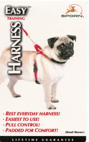 Small Red Easy Training Dog Harness