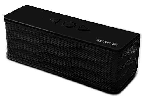 WisePrimate Boomer Portable Bluetooth Speakers for iPhone cellphone, iPod touch, Samsung Galaxy S3, S4, S5, S6, Galaxy, All Ipads, Microsoft Surface, Windows Tablet - BLACK