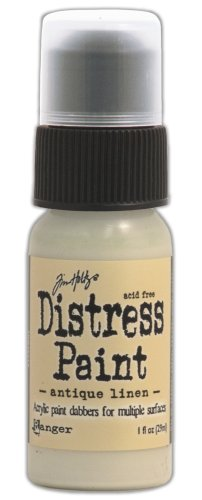 Ranger Distress Paint Dabber 1oz-Antique Linen,
