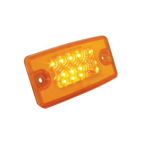 Grand General 76320 Amber Rectangular Spyder 8-LED Visor/Cab Marker Sealed Light for Freightliner Century/Columbia