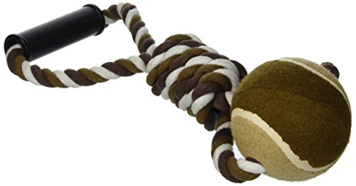 Ethical Pet Mega Twister Heavy Twisted Mega Ball Tug 17-Inch Dog Toy
