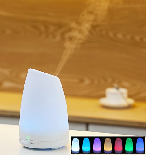 Aroma Diffuser WITH FREE LAVENDER ESSENTIAL OIL, Ultrasonic Aromatherapy Diffuser - Mood Light, Quality ANDVARI, Cool Mist Humidifier Air Purifier - Powerful. Quiet The Best Diffusers for Home - Office