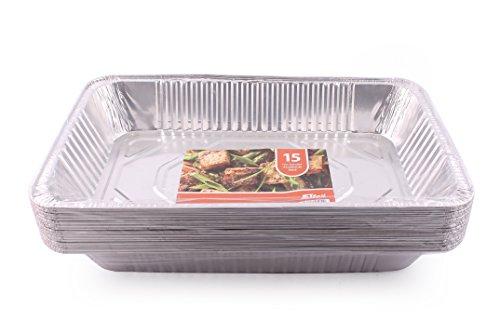 JETfoil Aluminum Foil Steam Table Pans, Full Size Deep, Pack of 15, Roaster pans