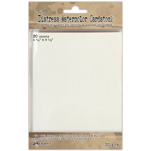 Ranger Distress Watercolor Cardstock, 4.25 by 5.5-Inch, 20-Pack