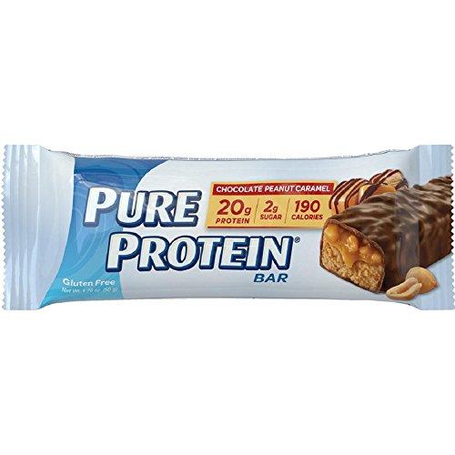 Pure Protein Chocolate Peanut Caramel Bar, 50 Gram (Pack of 6)