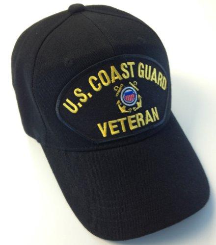 US Coast Guard Veteran Hat Black