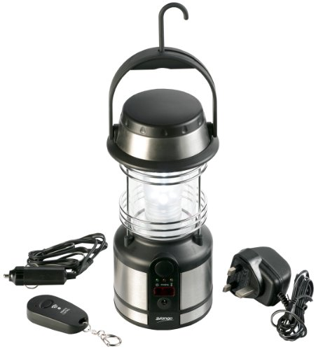 Vango 12 LED Rechargeable Lantern with Remote Control - Silver