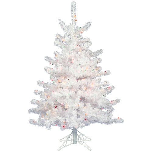 Vickerman 3' Crystal White Artificial Christmas Tree with 50 Clear lights