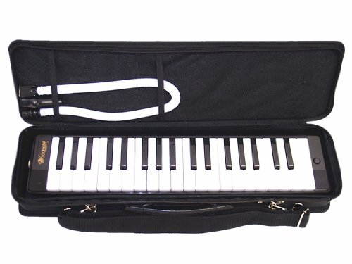 Woodnote Beautiful Black 37 Key Melodica with Carrying Case
